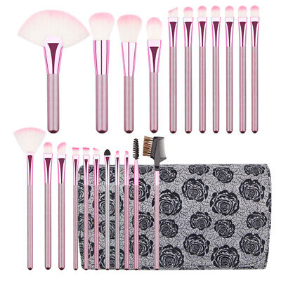 22Pcs Best Makeup Brushes Tool Big Fan Face Powder Eyebrow Eyelash Lip Brush