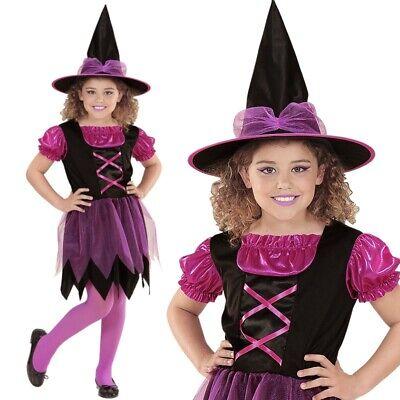 HEXE Sabrina pink Mädchen Kinder Hexen Kostüm von 104 Kleinkinder bis 164 # - Kleinkind Kleine Hexe Kostüm