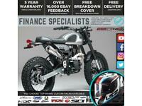 Bullit Hero 50 50cc Retro Scrambler Supermoto Road Bike Finance & Delivery
