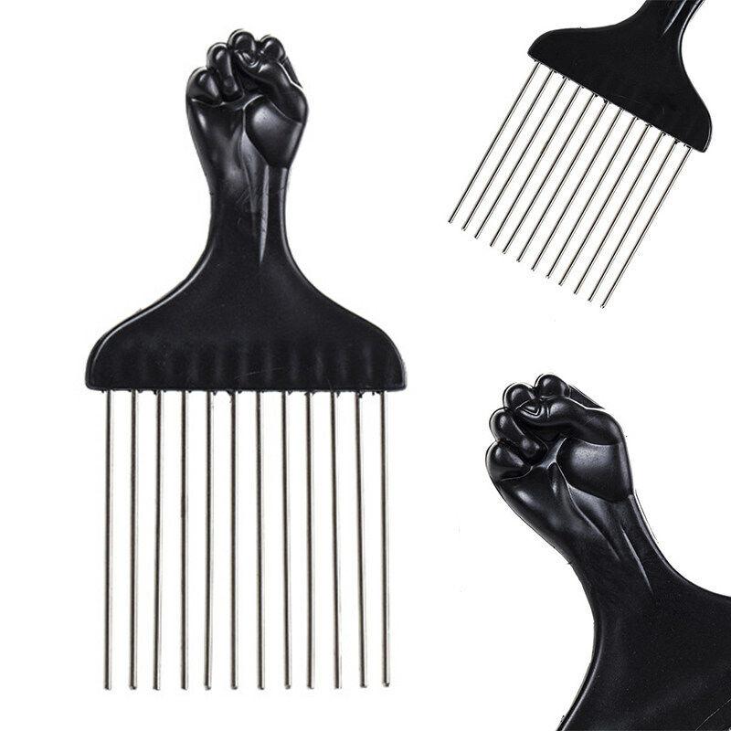 Afro Metal Comb Pik Unitangle Black Fist Metal African Hair