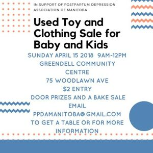 Used Toy & Clothing Sale for Kids!  TABLES AVAILABLE!!