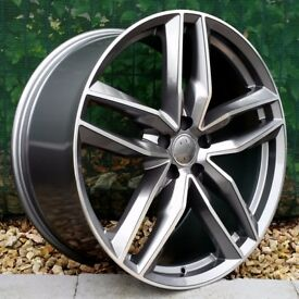 "18"" RS6-C Alloys and tyres for 5x112 VW Audi Seat Etc"