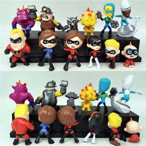 12Pcs Set The Incredibles 2 Movie Mini PVC Figures Models Kids Toys Gift UK