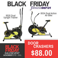 Upright Trainer / Air Bike Black Friday Deals Blowout Sale