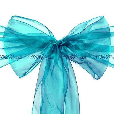 Teal Chair Sashes 22x280cm Wedding Party Reception Decor Bow ()