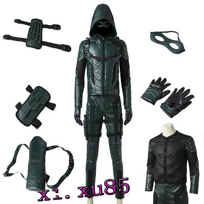 Original Green Arrow Season 5 Oliver Queen Cosplay Costume Customize Full - Arrow Suit