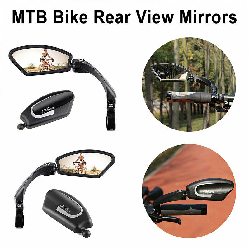 Hafny MTB Bike Handlebar Rear View Rearview Mirror Bicycle 360° Rotate Foldable
