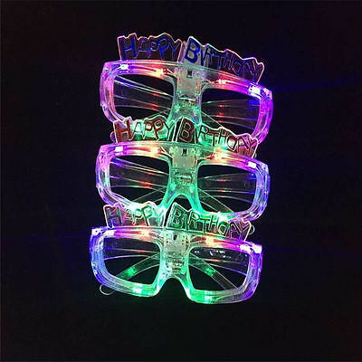LED Shutter Light Up Shades Flashing happy birthday LED Glasses Assorted - Light Up Shutter Shades