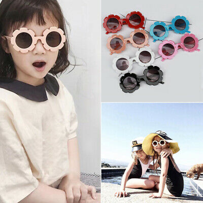 Kids Sunglasses Flower Boys Girls Round Glasses Children Baby Plastic Eyewear ()