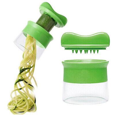 Gurkenreibe Spiralmesser Cutter Gemüse Obst Spiralschneider Salat Werkzeug CBL Salat Cutter