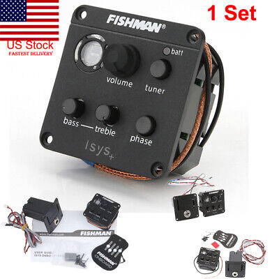 USA FISHMAN ISYS Acoustic Guitar Pickup Piezo onboard Preamps EQ Tuner Equalizer