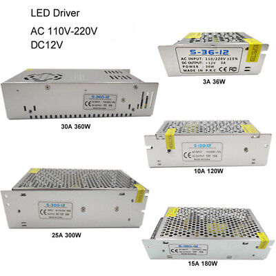 (5A 10A 20A 30A 12VAC/DC Voltage Converter Regulated Switch Power Supply for LED )