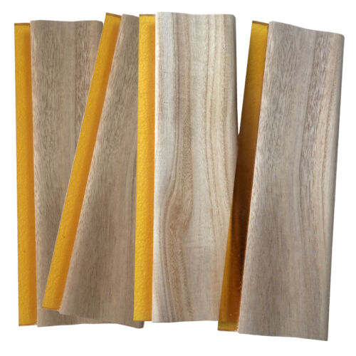 """4 pcs 13"""" Screen Printing Squeegee Wooden Scraper Rubber Ink Knife 33cm Oiliness"""