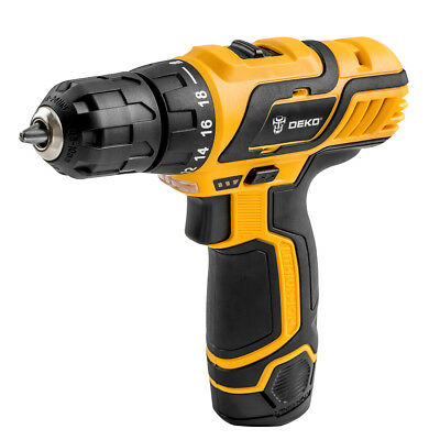 Deko 3 8  12V Lithium Ion Battery Cordless 2 Speed Drill Electric  18 1 Driver
