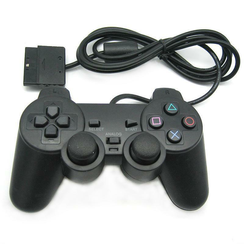 Controller Gamepad wired Joypad mit Dual Vibration für Sony PS2 Playstation 2 DE