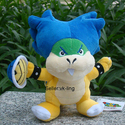 "Super Mario Bros Ludwig Koopa With Shell 8"" Plush Toy Bowser Son Koopalings Doll - Bowser Sons"