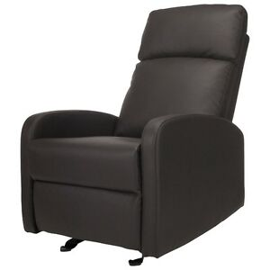 New: Kidiway Santa Maria Bonded Leather Glider - Grey