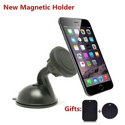 Universal 360° Car Mount Ball Sticky Magnetic Stand Holder For Cell Phone GPS IF