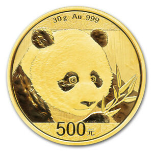 30 gr Pièce Or Pur Chine Panda China Fine Gold Coin 2018 .999
