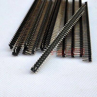 10pcs Rohs 2x40 2.54mm Pin Header Double Row Smtsmd Male For Dip Pcb Board G21