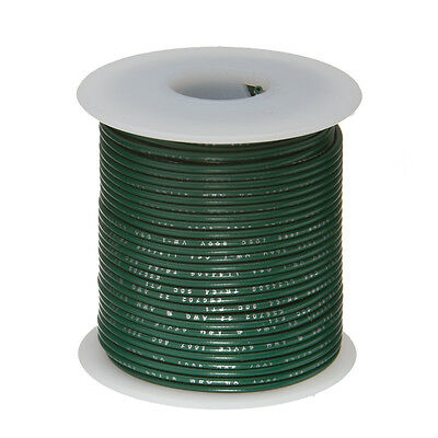 22 Awg Gauge Stranded Hook Up Wire Green 100 Ft 0.0253 Ul1007 300 Volts