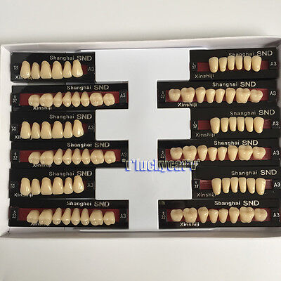 3sets Dental Acrylic Resin Teeth Two-layer A3 Full Mouth Set T4 L37 S32 Bestsell