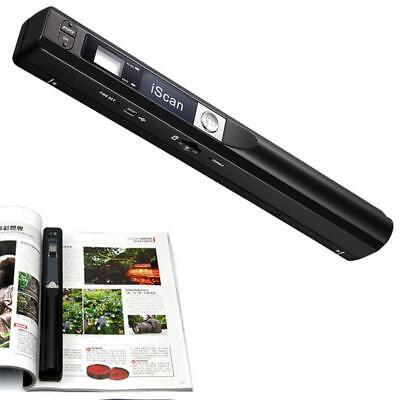 900DPI iScan Wireless HD Portable Hand Held Mini Scanner Bla