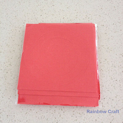 Spiral Quilling Paper - perfect for making flowers 11 Colors (U select) 5 types - Red