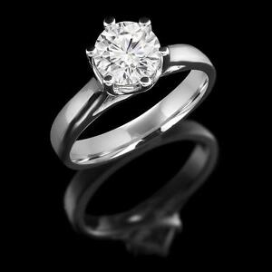 Bague de Fiançailles en Diamant Solitaire 1.05CT Diamond Engagement Ring