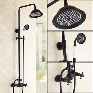 Wall Mounted Exposed Shower System in Antique Black   ( also with tub Filler )