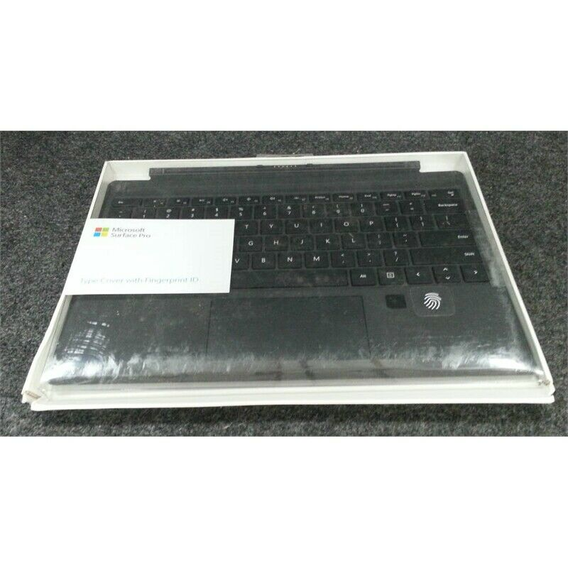 Microsoft 1755 Surface Pro Type Cover With Fingerprint ID Black