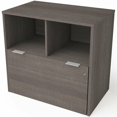 Bestar I3 Plus 1 Drawer Lateral File Cabinet In Bark Gray