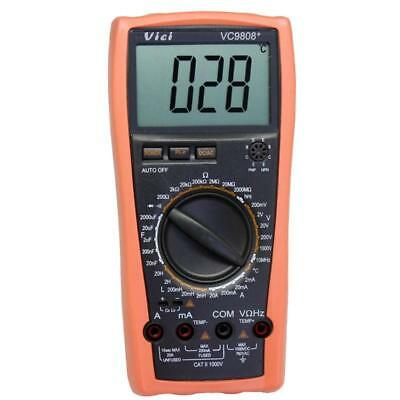 Vc9808 Lcd Digital Auto Range Multimeter Res Cap Freq Temp Diode Buzz