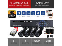 2TB and 4x HD Camera CCTV Security Camera System ✔ FULL KIT ✔ Mobile Phone View ✔ Easy Setup ✔ NEW
