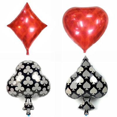 Playing Cards Theme Foil Balloons Party Casino Poker Birthday celebrate Decor - Casino Theme Birthday