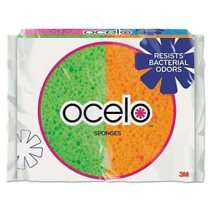 NEW! O-CEL-O Cellulose Sponges Assorted Colors 4-Pack 7271-T