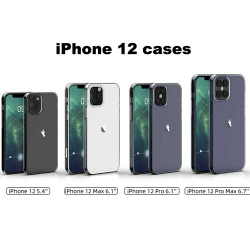 For Apple iPhone 12/12 Pro Max/12 Pro/12 Max Ultrathin Clear TPU Case Soft Cover 1