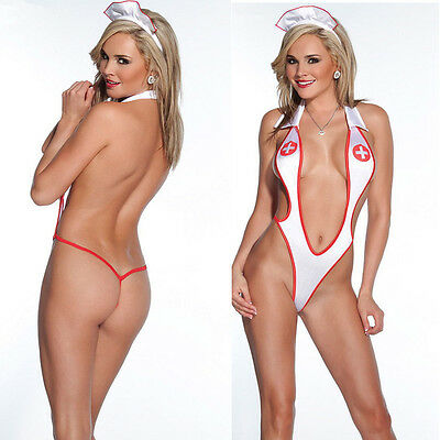 Women Sexy Lingerie Nurse Cosplay Uniform Costume Outfit Halloween Fancy - Nurse Fancy Dress Costumes