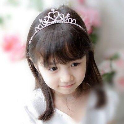 Headband Crown Heart-shaped Rhinestone Princess Dress Children Gift Accessory
