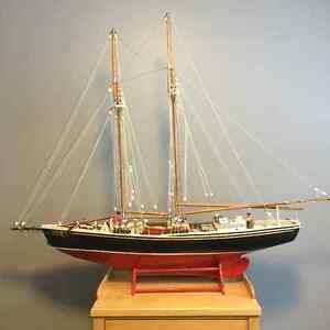 Lunenburg Fishing Schooner - Hand Carved by Dennis Wight