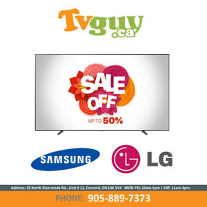 "Samsung | LG 40""-82"" Inch TVs on SALE! Up to 50% Off!"