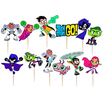 TEEN TITANS GO Toy Toppers Party Balloons Supplies costume cupcake cake mask  - Masquerade Balloon
