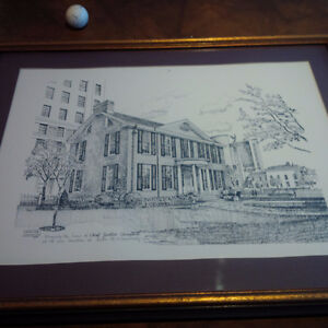 Sketch: Former home of Chief Justice Walter Campbell, Toronto