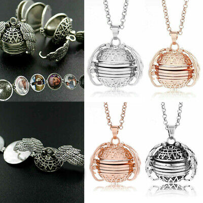 Expanding Angel Wing Pendant 4-5 Photo Locket Necklace Memorial Jewelry Decor - Angel Wing Decorations