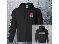 Great Britain UK Flag Design Hoodies Men Moleton Sportswear British Hoody Coat Fleece Hood Cardigan