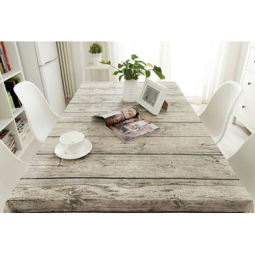 86inch Wood Grain Table Cloth Cotton Linen Tablecloth For