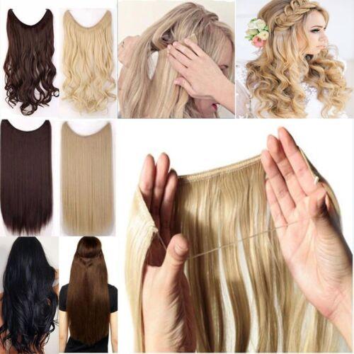 Mix Farben Wire Draht Haarverdichtung Haarteil Blond Kein Gewirr Blond Lang Haar