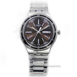 Swatch-Uhr-Irony-Big-BROWN-DECENCY-YGS753G-NEU-OVP