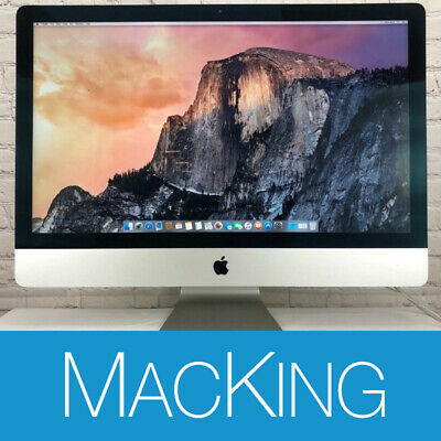 Apple iMac A1419 27-Inch 3.4GHz Quad Core i5, 1TB HDD 32GB RAM Late 2013 CRACKED