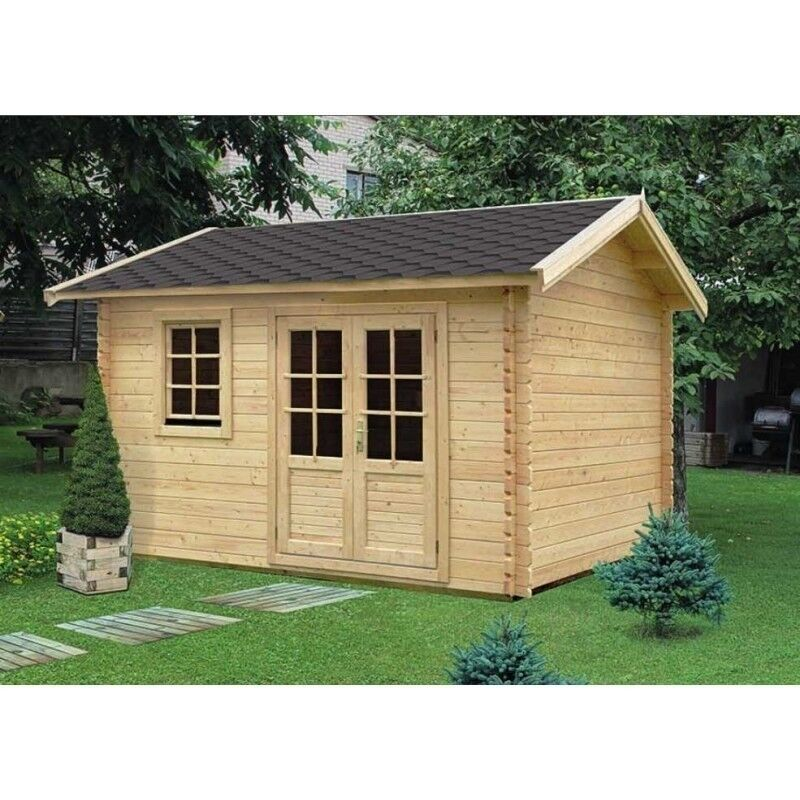 Log Cabin Summer House Garden Building 13 X 10 Ft 34 Mm In